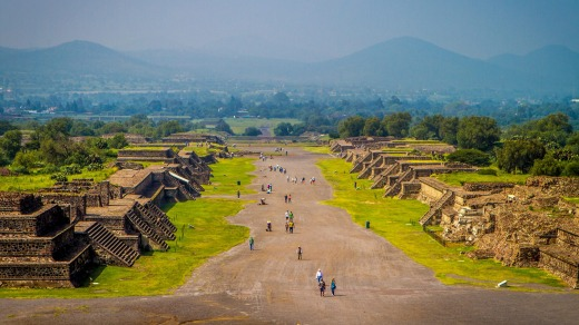 Avenue of the Dead, Teotihuacan, Mexico.