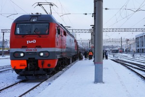 An icy reception on Russian railways.