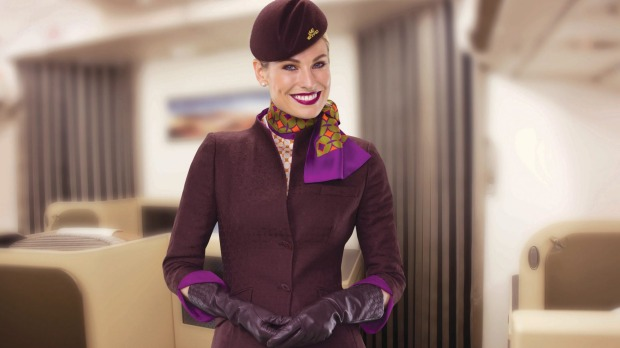 An Etihad flight attendant. Cabin crew know better than most the challenges of looking good after a long haul flight.