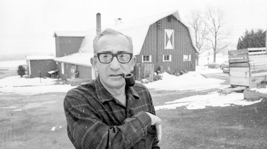 Max Yasgur at his farm near Bethel, New York on March 23, 1970. Yasgur, who rented his farms for the Woodstock Music ...