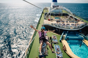 The flying fox on P&O's The Edge.