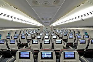 Air Canada 787-9 Dreamliner economy class seats.
