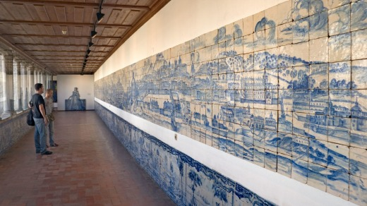 Early 18th century azulejo on display at the National Tile Museum.