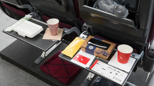 On Wednesday's flight to Adelaide, customers found meal containers made out of biodegradable packaging made from sugar ...