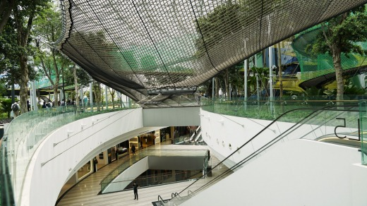 Changi Airport opened its massive expansion, Jewel, last year.