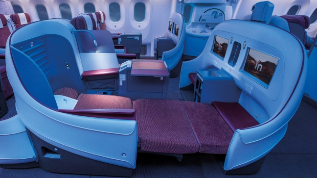 The current busines class on board a LATAM 787-8.