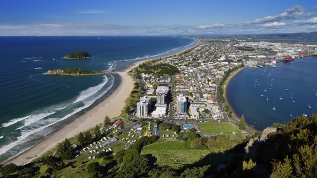 The view from the top of Mount Maunganui.