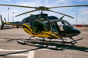 A Bell 407 helicopter operated by Blade at JFK.