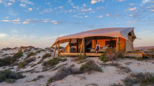 Sal Salis resort, Ningaloo Reef.