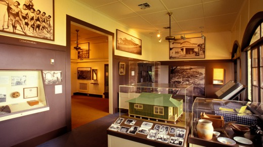Exhibits tell the history of the sugarcane industry at the Alexander and Baldwin Sugar Museum.