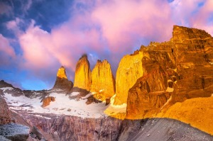 Sunrise in Torres del Paine National Park, Patagonia, Chile
