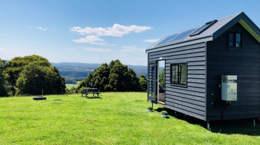 Tiny house offers expansive views.