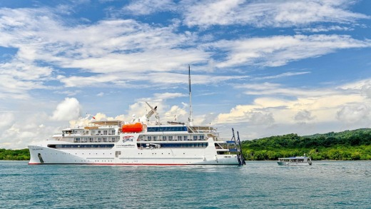 Coral Expeditions' new ship, Coral Adventurer, will spend the next five months in the Kimberley.