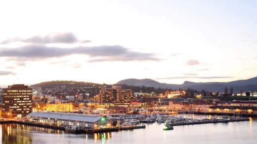 Hobart's waterfront.