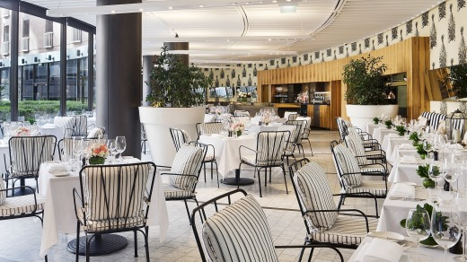 Dinner, breakfast and afternoon tea is served in Garden Court, the hotel restaurant looking out onto the courtyard.