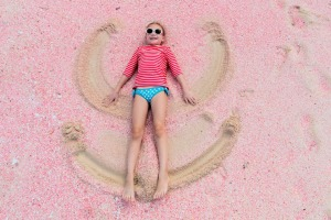 Beaches famed for their pinkness - like this one in the Caribbean - are likely to exhibit a blush rather than a ...