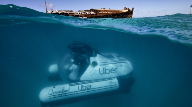 ScUber Submarine Launched By Uber Off Heron Island On The