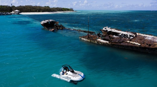 Passengers will dive to a maximum of 30 metres – about the same levels reached by advanced scuba divers – with ...