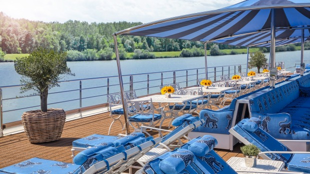 The sundeck on Uniworld's Bon Voyage.