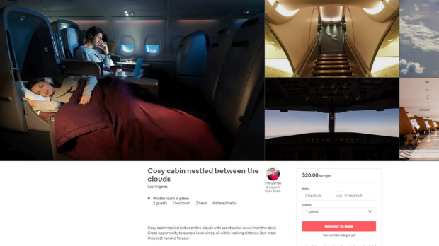 Qantas frequent flyer Airbnb seats: First and business class seats available in 'secret' listings