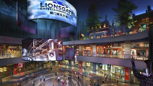 The park will feature rides, shops and attractions set in the worlds of popular Lionsgate films including 'The Hunger ...