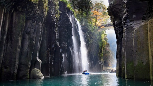 Manai Falls - Shrine of Japan, Takachiho Gorge.