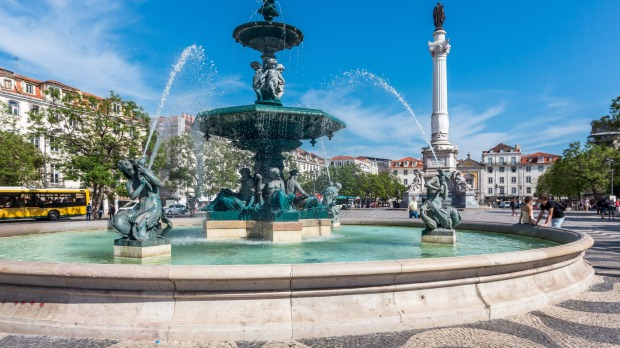 Rossio square in Lisbon's old town.