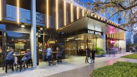 The hotel is in the city's south, five minutes' walk from Kingston and Manuka shops, cafes and restaurants.