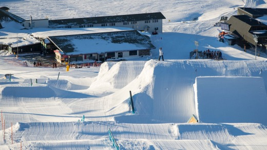 Perisher is known for some of the world's best terrain park and halfpipe features.