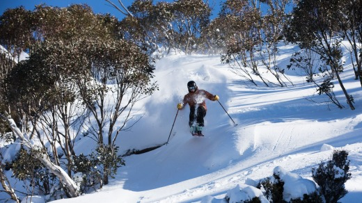 Skiing in Thredbo.