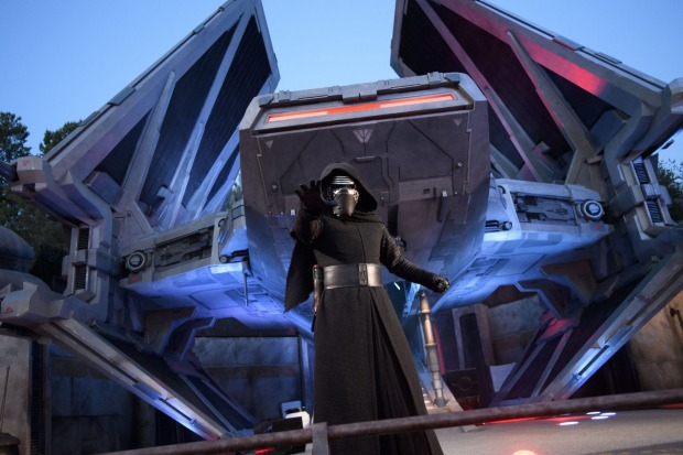 The theme park is set during the most recent films, so will feature characters like Kylo Ren, but not classic characters ...