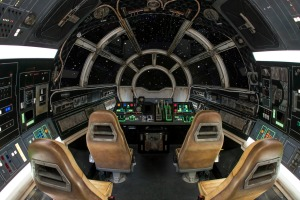Inside Millennium Falcon: Smugglers Run at Star Wars: GalaxyÕs Edge at Disneyland Park in Anaheim, California, and at ...