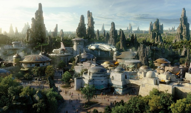 The 56,000 square-metre Galaxy's Edge reportedly cost $1 billion to build, involving 6700 construction works and artists ...