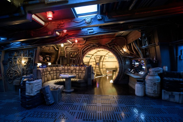 Inside the Millennium Falcon.