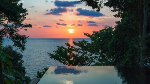Sunset over Krabey Six Senses.