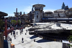 A life-size Millennium Falcon is the centrepiece of the new Star Wars attraction.