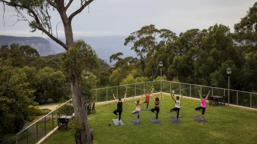 Guests enjoy wellness activities at Fairmont Hotel Resort and Spa Leura.