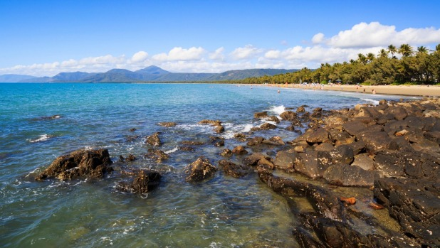 The rocky coastline at the northern end of Four Mile Beach in Port Douglas.