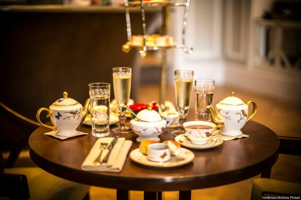 THE ROSEBERY AT THE MANDARIN ORIENTAL HOTEL, LONDON: The setting suggests a proper toff's high tea at this stylish ...