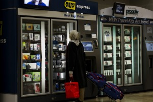 You can buy a lot more than drinks from airport vending machines these days.
