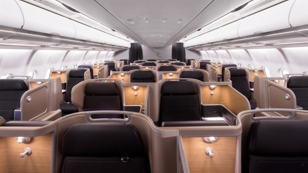 Business class on the Qantas Airbus A330.