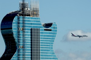 Construction is almost completed at the Seminole Hard Rock Hotel and Casino Hollywood and is scheduled to open on ...