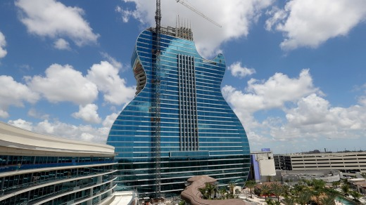 It's the world's first guitar-shaped building.