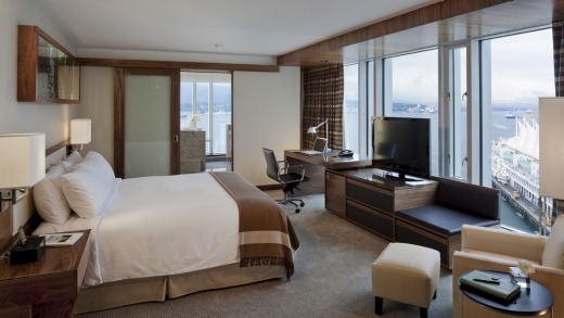 The 'Signature Ofuro Room' is spacious, with a comfortable king-size bed, large desk, two leather armchairs and ample ...
