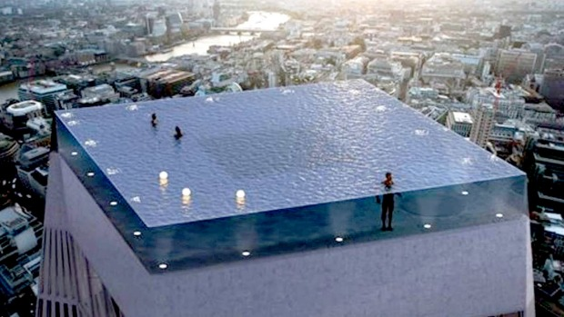 London infinity pool world 39 s first 360 degree infinity for Rooftop pool design