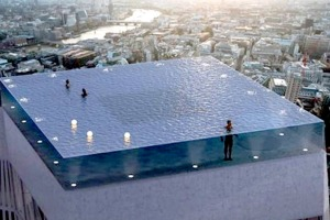 Compass Pools' design for a 360-degree rooftop pool.