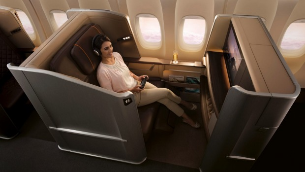 Singapore's first class seat on the B777.