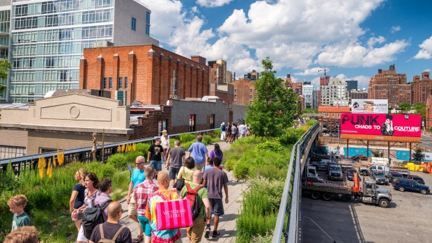 New York's High Line, an elevated rail line that has has been turned into a park and walkway, is now 10 years old.