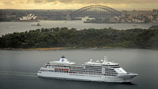 Silversea Cruises' Silver Whisper in Sydney harbour. The cruise line's new summer 2020-21 voyages visit more ports than ever.