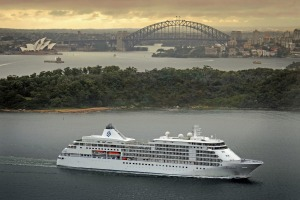 Silversea Cruises' Silver Whisper in Sydney harbour. The cruise line's new summer 2020-21 voyages visit more ports than ...
